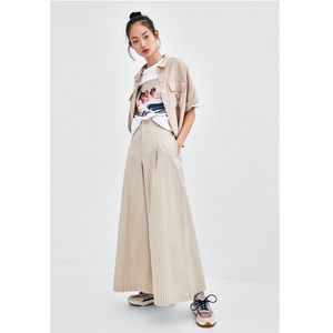 Zara TRF Collection High Rise Wide Leg Pants